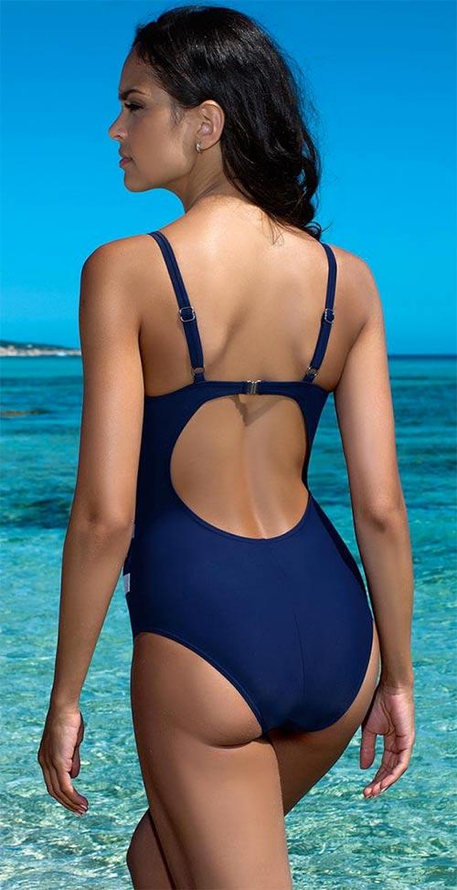 Modré dámské jednodílné plavky