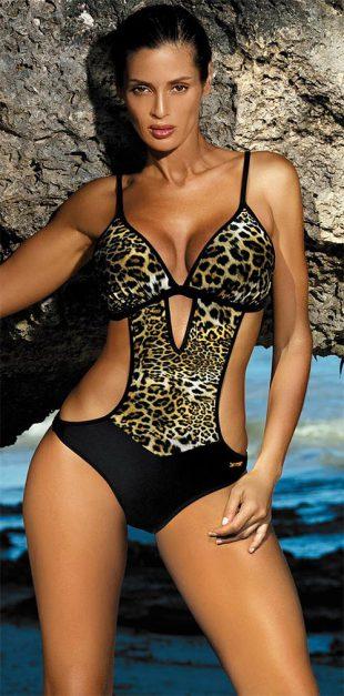 Plavky Marko Shila s leopardím motivem