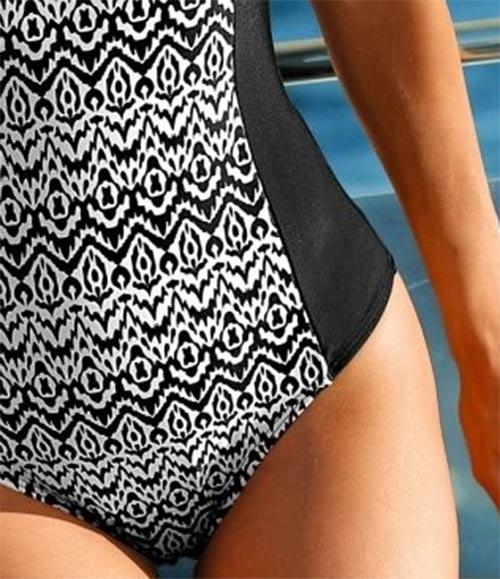 Plavky zeštíhlující pás a boky