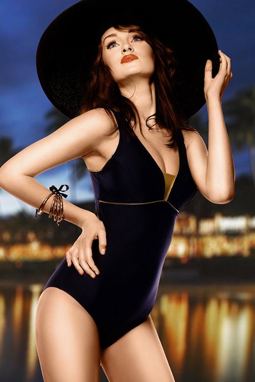 Černé plavky Anika
