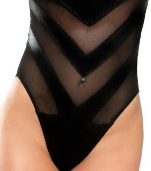 Extravagantní černé plavky Demoniq Chantal