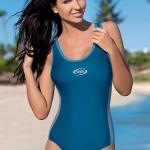 Dámské modré jednodílné sportovní plavky Alex