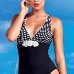 Dámské luxusní italské jednodílné plavky David-Vacanze se zaštihlujícím efektem