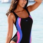 Sportovní jednodílné plavky Kangaroos s kontrastními vsadkami
