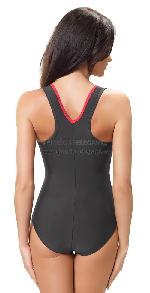 Sportovní tmavě šedé dámské plavky