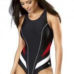 Černé sportovní jednodílné plavky gWINNER Liana Max