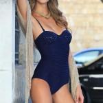 Modré jednodílné plavky Ewlon Malibu s odhalenými zády