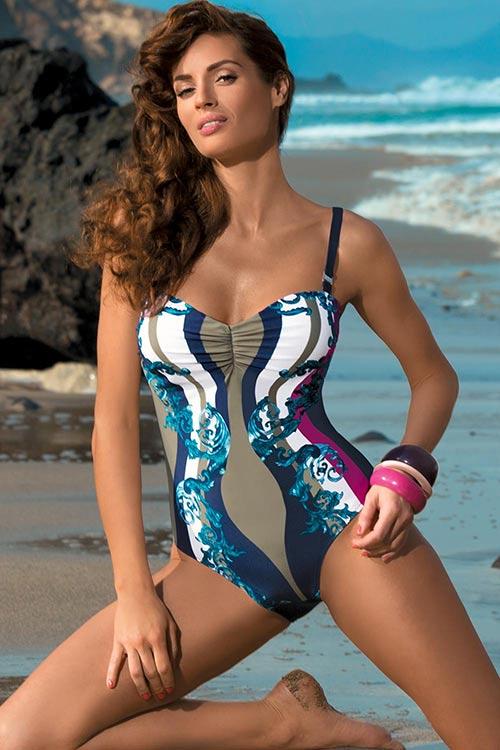 XXXL jednodílné plavky pro plnoštíhlé Miriam