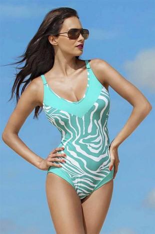 Luxusní dámské jednodílné plavky pro plnoštíhlé Madora