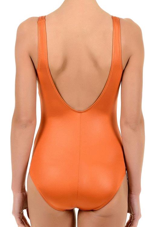 Oranžové dámské jednodílné plavky