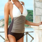Plavky Ewlon Bahama I s měkkými košíčky a nařaseným předním dílem