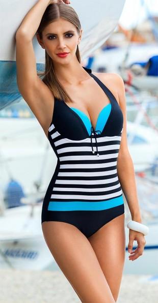 Vyztužené jednodílné plavky Ewlon Pamela s vyjímatelnými push-up vložkami