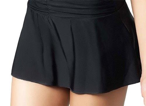 Černé plavky se sukní