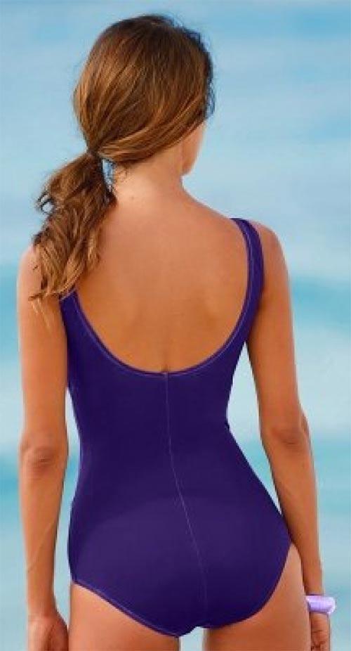 Fialové dámské plavky
