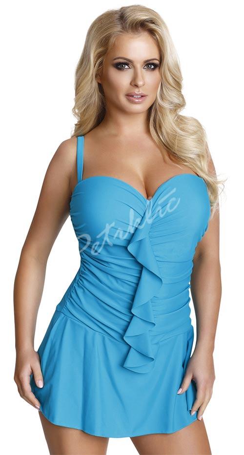 Jednodílné plavkové šaty se sukýnkou