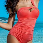 Sexy push-up plavky na jedno ramínko Lorin L4064