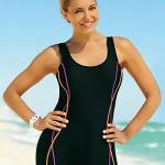 Sportovní dámské jednodílné plavky Aquasport s nohavičkami