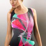 Jednodílné sportovní plavky Murcia s abstraktním vzorem