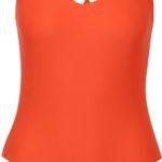 Oranžové jednodílné plavky s pásky na zádech