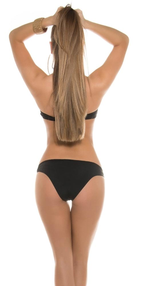 Sexy černé jednodílné plavky