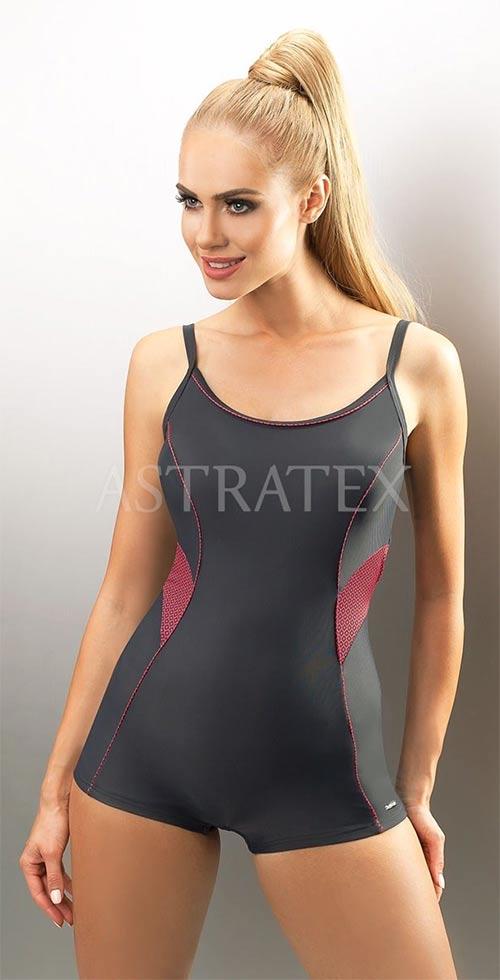 Sportovní jednodílné dámské plavky s nohavičkou