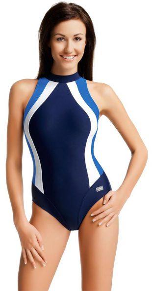 Sportovní dámské plavecké plavky s roláčkem