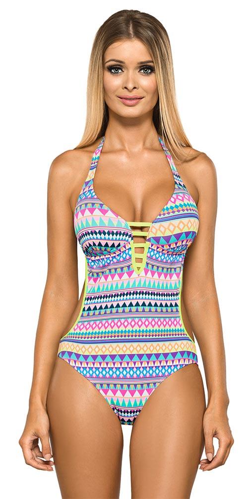 Unikátně řešené dámské plavky se vzorem