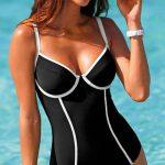 Jednodílné plavky s kosticemi - Blancheporte