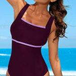 Sportovní jednodílné plavky s prsní podšívkou