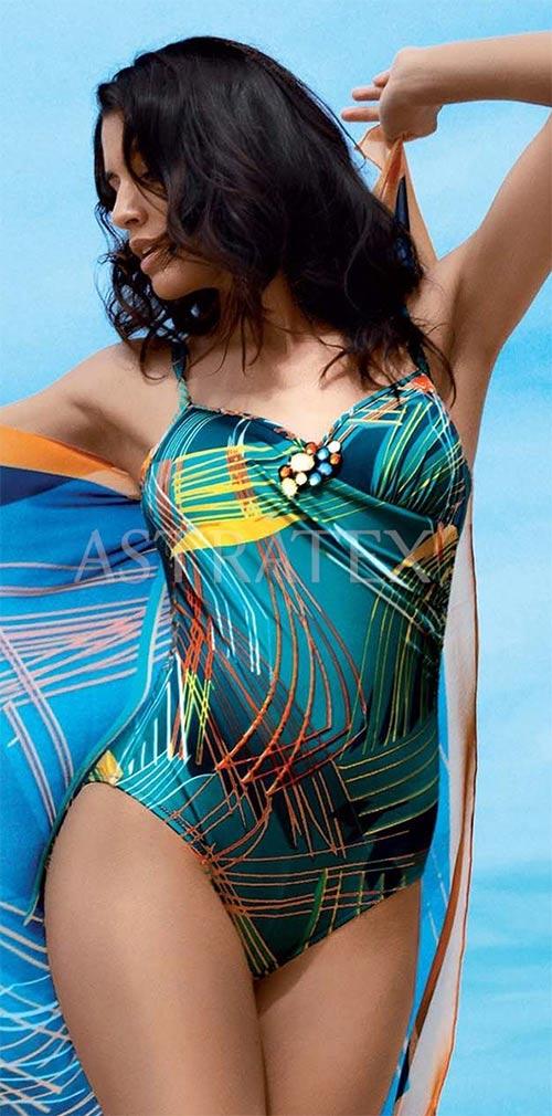 Jednodílné dámské plavky s Tummy control efektem