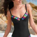 Zeštíhlující jednodílné plavky s kosticí