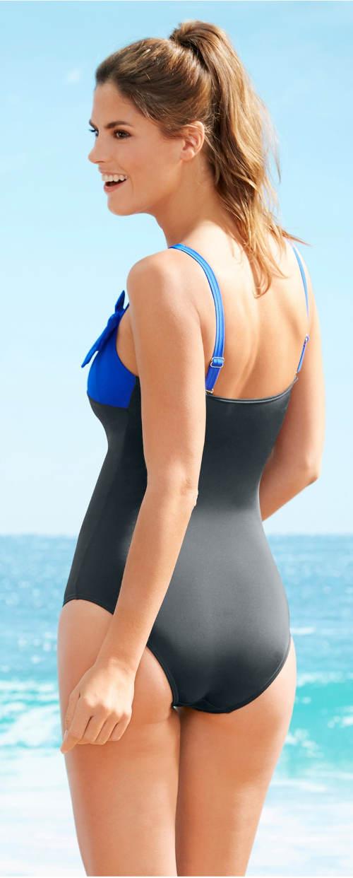 Dámské jednodílné plavky s elastickou podprsní gumou