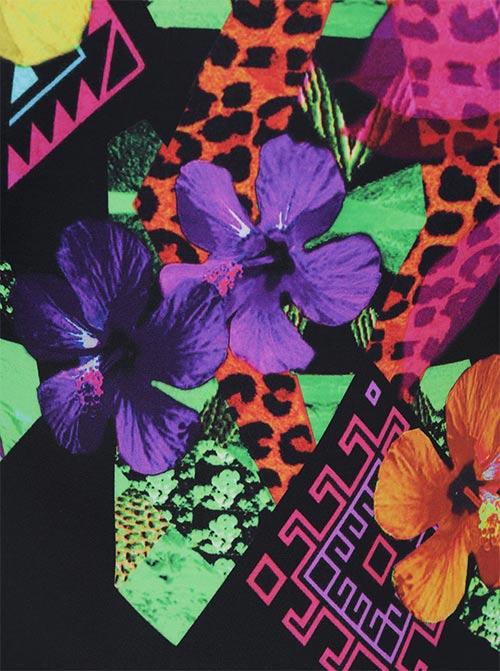 Pestrobarevný květinový potisk