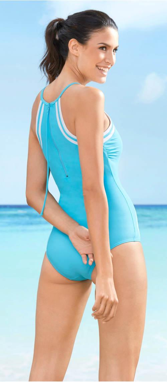 Tyrkysové sportovní dámské plavky