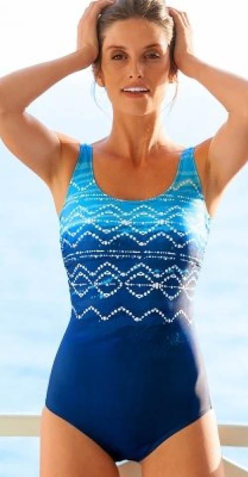 Modré francouzské jednodílné plavky