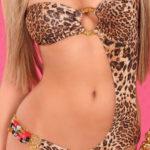 Monokiny na jedno rameno s gepardím motivem