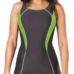 Sportovní jednodílné plavky šortkového střihu