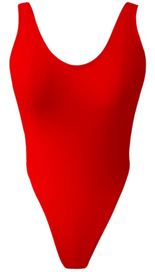 Červené tanga monokiny