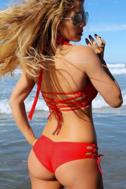 Jendodílné plavky s brazilskými kalhotkami