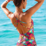 Jednodílné plavky Blancheporte s tropickým potiskem