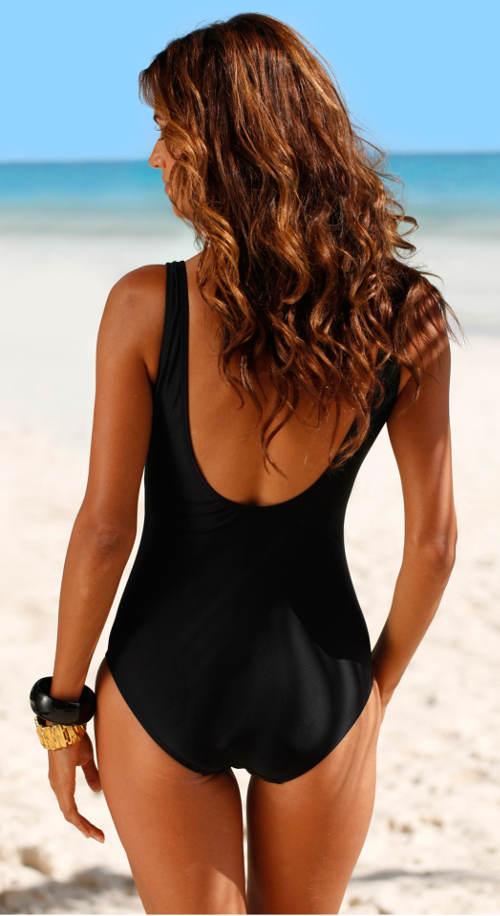 Levné černé jednodílné plavky