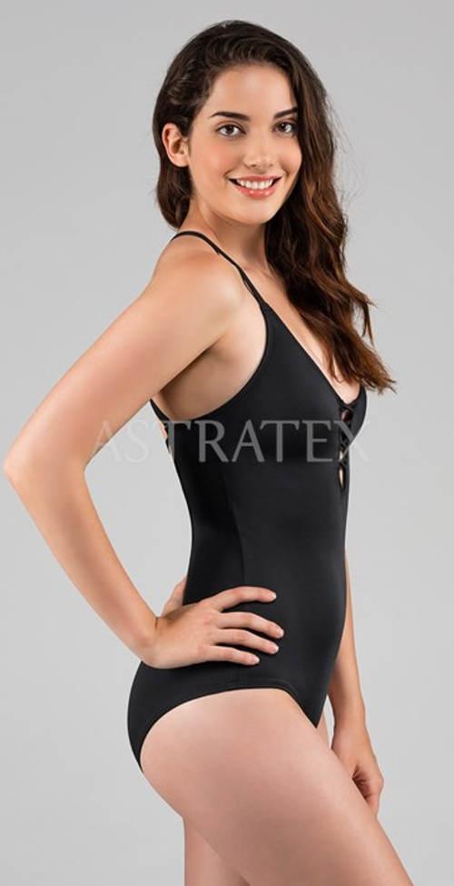 Černé jednodílné plavky Dorina