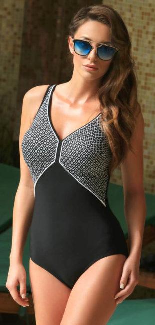 Černobílé výprodejové plavky Jolidon