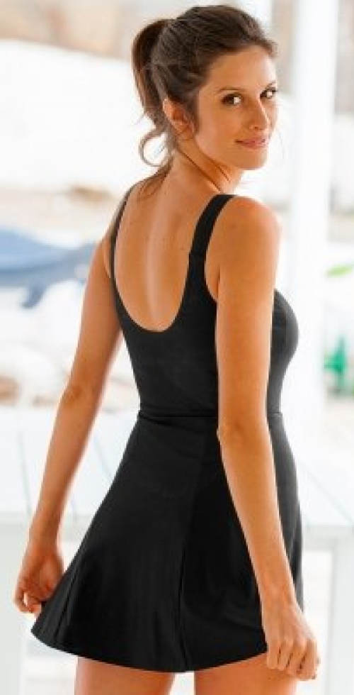 Plavky s delší sukní