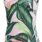 Dámské plavky Adidas s potiskem listů