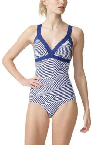 Jednodílné dámské plavky Adidas v retro stylu