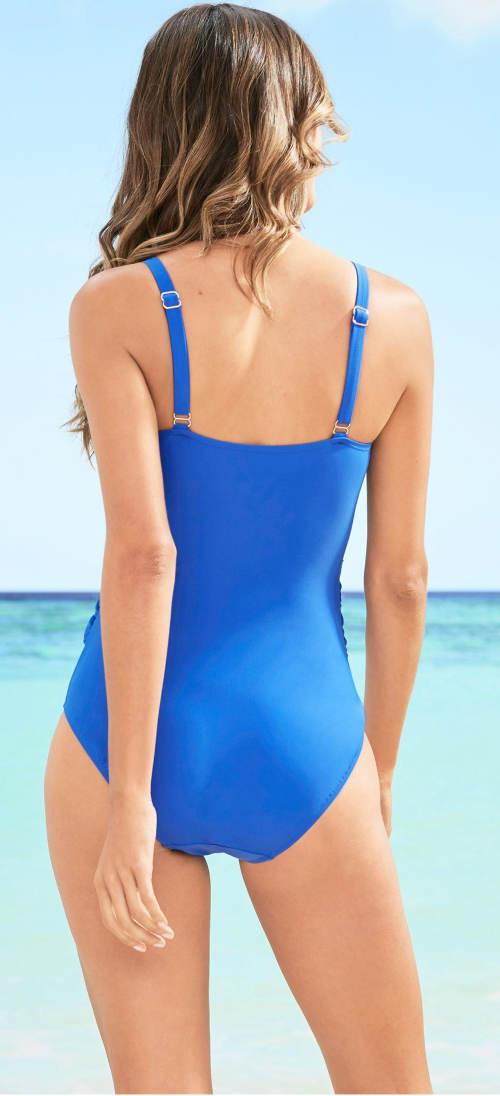 Modré dámské jednodílné plavky výprodej