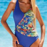 Plavky Lorin s druhou látkou přes břicho