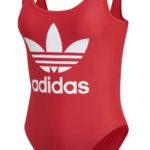 Dámské jednodílné plavky Adidas v červené barvě
