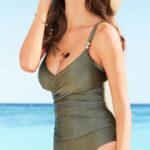 Lesklé jednodílné dámské plavky Bonprix ve výprodeji